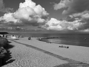 Sommer,Strand,blackwhite,schwarz,weiß,ostsee,lübecker bucht