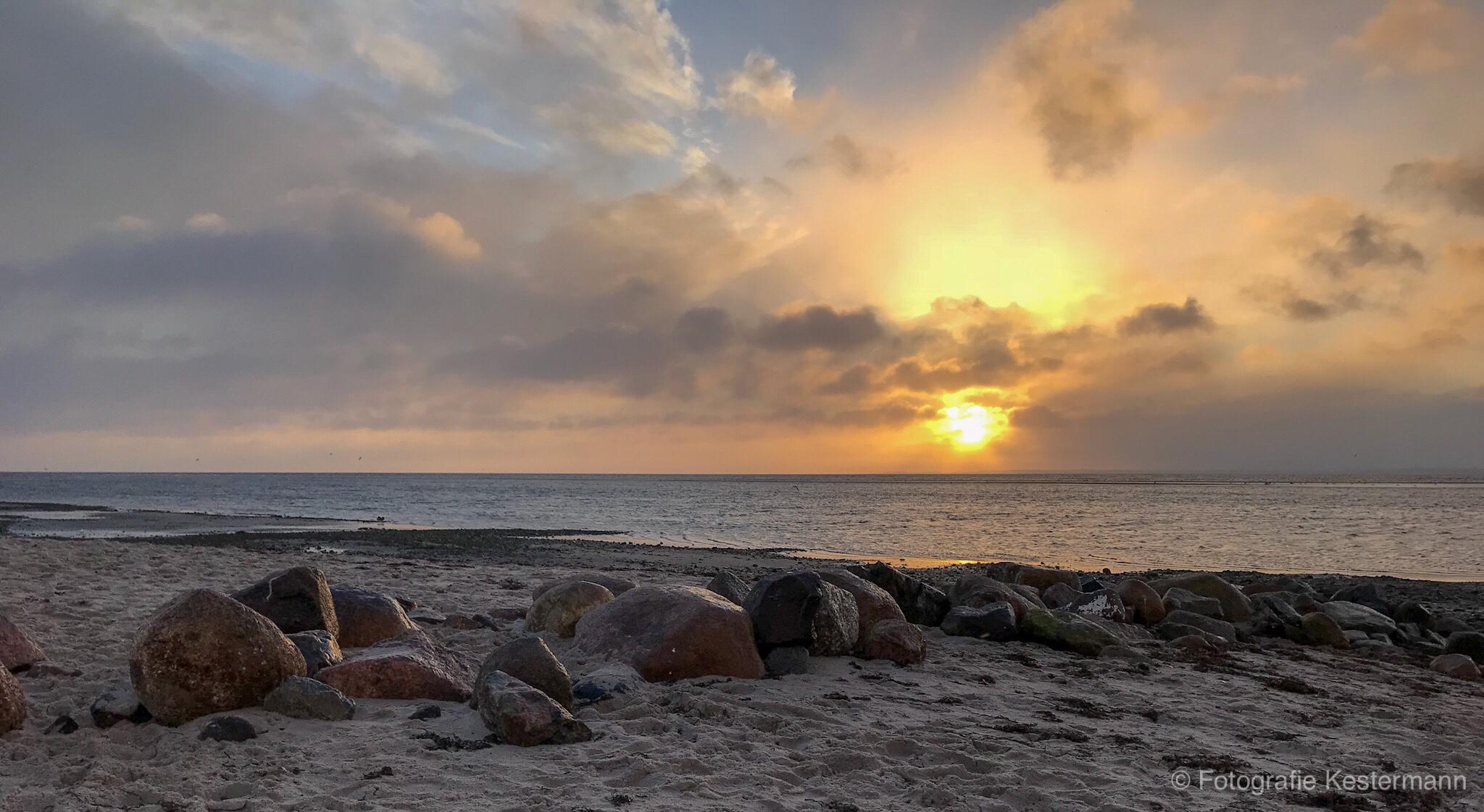 Ostsee Pelzerhaken Strand Sand Morgenrot